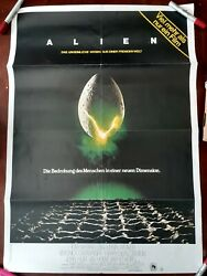 Alien 1979 Original Foreign Showing Movie Poster In German Pre-owned