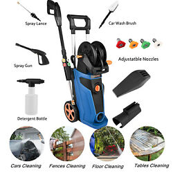 3800psi Electric Pressure Washer 1800w 2.8gpm 4 Quick-connect Spray Tips Top