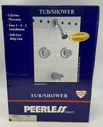 Peerless Tub And Shower Faucet Set Model 9731 Chrome Nos Replacement / Apartments