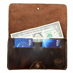 Hide And Drink Leather Wallet Holds Up To 4 Cards Plus Flat Bills And Coins / Pou...