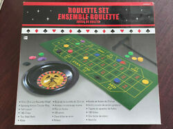 Roulette Party Set With All Accessories 0 Wheel Mat Chips 2 Balls Rake