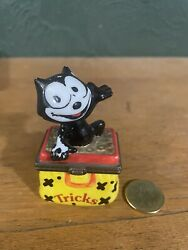 Felix The Cat Porcelain Hinged Miniature Trinket Box Midwest Of Cannon Falls