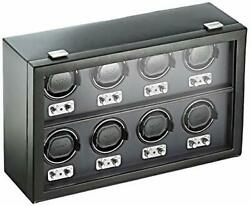 Wolf 270802 Heritage 8 Piece Watch Winder With Cover Black