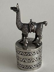 Llama Alpaca Sterling Silver Bottle Stop, Signed Welsch And Llama Stamp And 925