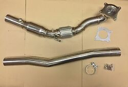 Downpipe For Vw Golf 6 R Tfsi 4-wheel 76mm 3 Stainless Steel With 200 Cell,