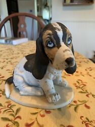 Vintage Ceramic Basset Hound approx. 5 1 2 quot; x 6quot; Homco 1983