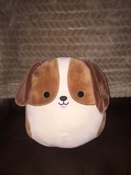 Squishmallows 10quot; Tyree the Beagle Dog 🐶Cream Brown Soft Plush 🐶