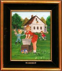 Ann Mexic Sudsy Susy Original Painting Of Children, Realistic Art Submit Offer