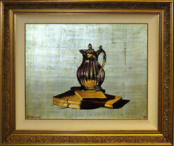 Michael Huggins Books Silver Pitcher Original Oil Painting On Silver Leaf