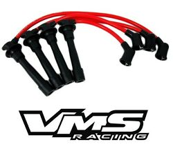VMS RACING SPARK PLUG WIRE IGNITION CABLE SET FOR 90-00 MAZDA MIATA MX5 - RED