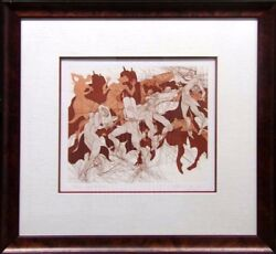 Guillaume Azoulay Joy Of Thora Hand Signed Etching Judaic Art Submit An Offer