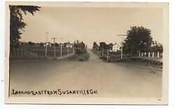 1910 Rppc Postcard Looking East From Susanville Ca 3