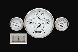 Classic Instruments 1957 Chevy 3 Gauge Set White Hot Series + Clock Ch01wslf