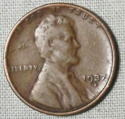 1937-s Lincoln Wheat Ears Cent See The Coin In The Pictures Whotoldya Lot 6320