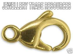 18ct Yellow Gold Carabiner Trigger Jewellery Clasp 18mm Bracelet Or Necklace
