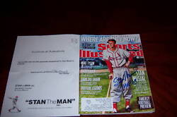 Stan Musial Stlouis Cardinals Stan Musial/coa Signed Sports Illustrated