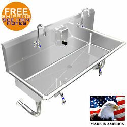Multi User 2 Person Hand Sink 42 Hands Free Lavatory