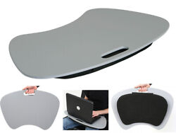 Grey Laptop Tray Extra Large With Padded Cushion Rest Homework Lap Tray Stand