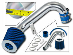 Sport Air Intake Kit + Blue Cone Filter For 01-05 Civic Dx/lx/ex 1.7l L4