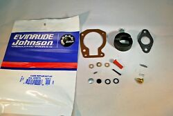 New Johnson Evinrude Oem Outboard Carb Kit With Float 439070 Brp/omc Carburetor