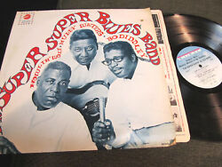Howlin Wolf Muddy Waters Bo Diddley Super Blues Band Lp '67 Mono Rare Oop Checke