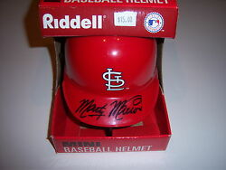 Marty Marion Stlouis Cardinals W/holo Signed Mini Helmet