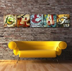24wx24h Each •great• 5 Letters - Name Your Art With Rodney White Giclee Canvas