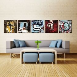 30wx30h Each •music• 5 Letters - Name Your Art With Rodney White Giclee Canvas