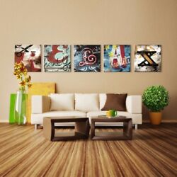 36wx36h Each •relax• 5 Letters - Name Your Art With Rodney White Giclee Canvas