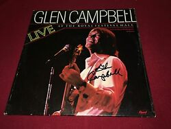 GLEN CAMPBELL SIGNED LP LIVE AT THE ROYAL FESTIVAL HALL PROOF