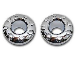 Oem New 2005-2016 Ford F-350 Front Chrome Center Caps Pair 4wd-dual Drw