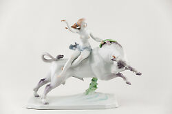 Herend The Abduction Of Europa Xxl Handpainted Porcelain Figurine P035