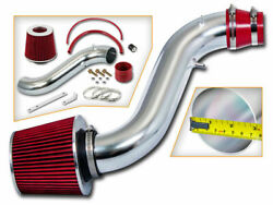Ram Air Intake Kit+ Red Cone Filter For 90-93 Honda Accord 2.2 Dx Lx Ex