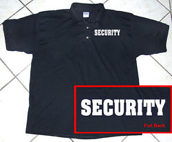 Black Polo Shirt Staff Police Business Security 100 Cotton S - 2xl