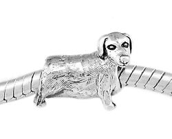 Authentic Sterling Silver Reflections Dachshound Dog European Bead