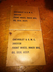 Wwii G508 G506 Gmc Cckw Chevy 1 1/2 Ton Army Truck Fron Wheel Inner Bearing Seal
