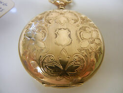 Antique Elgin Gold Filled Pocket Watch Working Condition