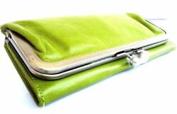 Genuine Natural Soft Leather Woman Purse Tote Ladies Wallet Clutch Cards Green $42.99