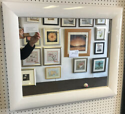Trade Priced - New Large 63mm Shiny White Framed Wall And Overmantle Mirrors