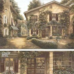 36x24 Boulangerie By Betsy Brown Antique Bakery Vines On Stone Walls Canvas