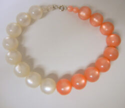 Beautiful '70's Vintage Moonglow Translucent Lucite Chunky Large Beaded Necklace