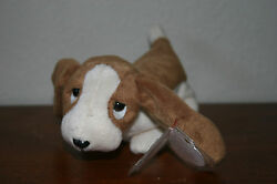 Beanie Baby Tracker the Basset with Tag 5th Gen Retired 1997 Ty MWT