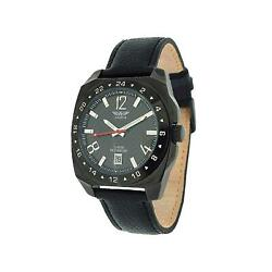 Aviator Menand039s Pen Cufflink And Genuine Leather Strap Watch Gift Set Avx1899g2