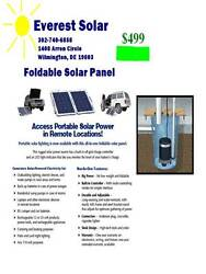 Foldable 100 Watt Solar Panel With Charge Controller For 12 Volt Batteries, 15'
