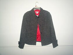 Coldwater Creek Women Tweed Lined Jacket Sizes 6 - 12 6p 8p 10p 18w 20w