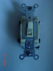 Leviton Ivory 4-way Commercial Switch 15 Amp 54504-21 10 Each
