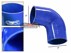 Blue 3 76mm 4-ply Elbow Silicone Hose Turbo Intake Intercooler For Lexus