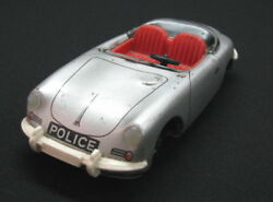 Vintage Porsche 356 Tippco Tippandco Friction Toy Car Police Germany 1970's See