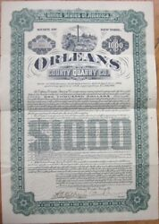 1906 Mining 1000 Gold Bond Certificate 'orleans County Quarry Co.' - New York