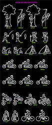 Stick Figure Outdoors Vehicle Decal Sticker 7 Year Outdoor Durable